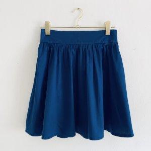 H&M Taillenrock mit Falten und Taschen in blau XS/S 34/36 High Waist