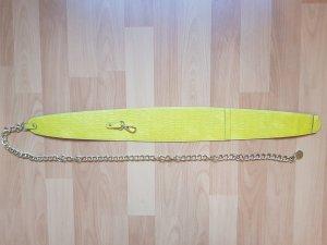 H&M Tailliengürtel Gürtel mit Kettendesign Gold Gelb