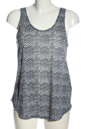 H&M Tanktop lichtgrijs-wit volledige print casual uitstraling