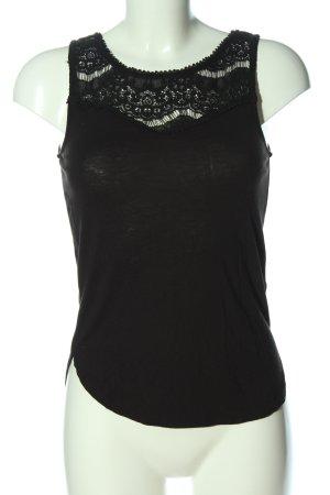H&M Camiseta sin mangas negro look casual
