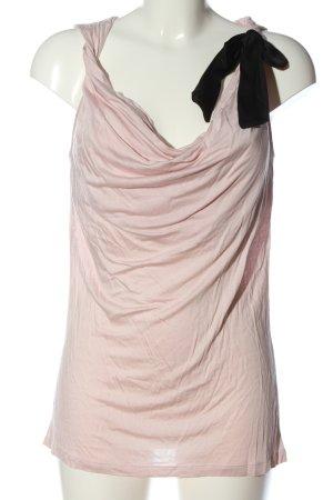 H&M Camiseta sin mangas rosa-negro look casual