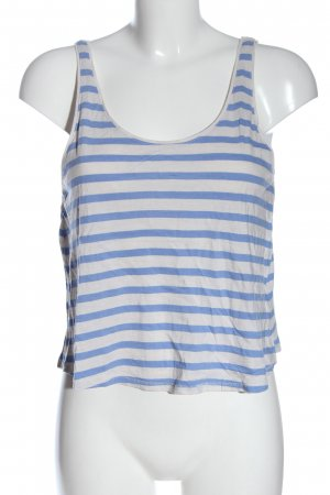 H&M Tanktop weiß-blau Streifenmuster Casual-Look