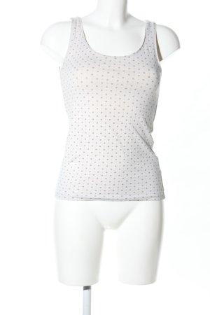 H&M Tank Top white-light grey spot pattern casual look