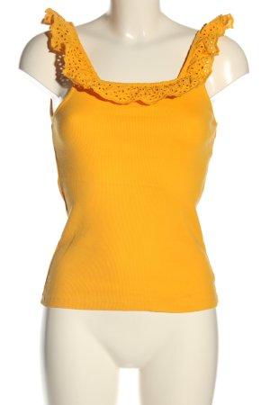 H&M Tanktop licht Oranje casual uitstraling