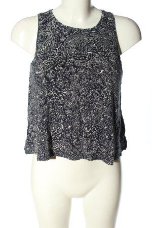H&M Tanktop schwarz-weiß abstraktes Muster Casual-Look