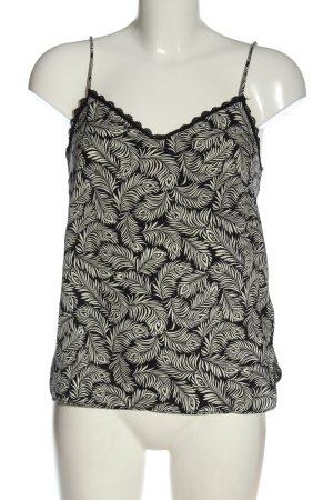 H&M Tanktop zwart-wit volledige print casual uitstraling