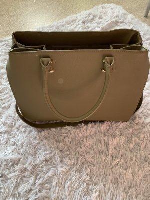 H&M Shoulder Bag khaki-green grey