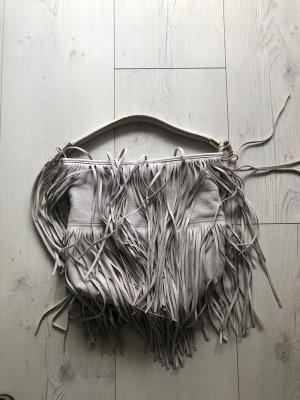 H&M Tas met franjes lichtgrijs