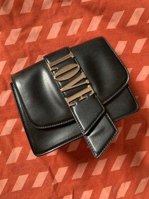 H&M Tasche Umhängetasche schwarz gold Love