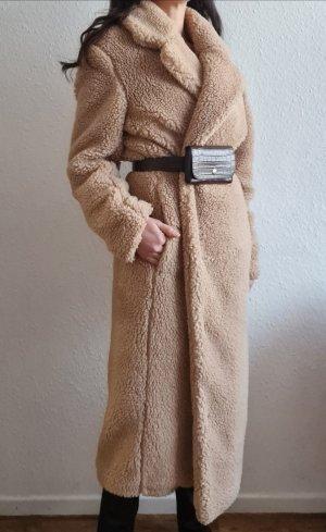 H&M Manteau en fausse fourrure crème-beige