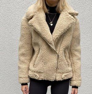 H&M Giacca in eco pelliccia crema
