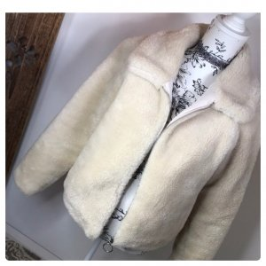 H&M Teddyjacke Faux Fur Kunstfell Bomber Blouson Fell