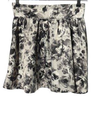 H&M Gonna circolare grigio chiaro-nero stampa integrale effetto bagnato