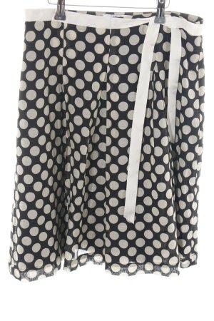 H&M Cirkelrok zwart-wolwit gestippeld patroon casual uitstraling