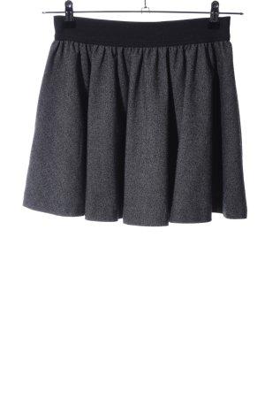 H&M Circle Skirt light grey-black flecked casual look