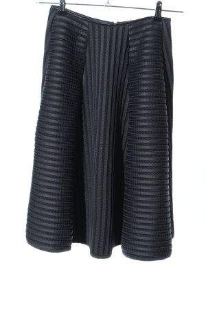 H&M Circle Skirt black striped pattern business style