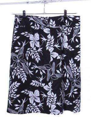 H&M Cirkelrok zwart-wit volledige print casual uitstraling