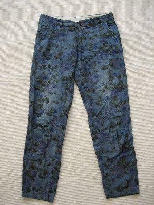 H&M tolle jeans hose blumen gr. s 36 l.o.o.g. chinos