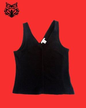 H&M Gebreide top zwart