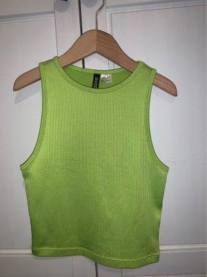 H&M Top basic verde neon