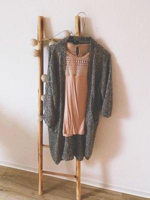 H&M Crochet Top dusky pink-pink