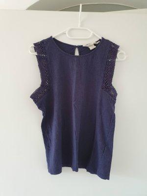 H&M Top basic blu