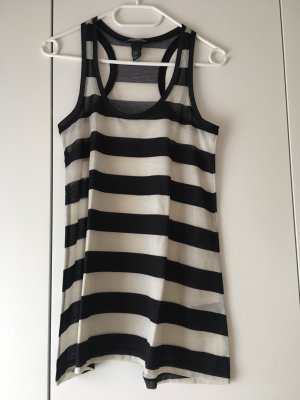 H&M Basic topje zwart-wit