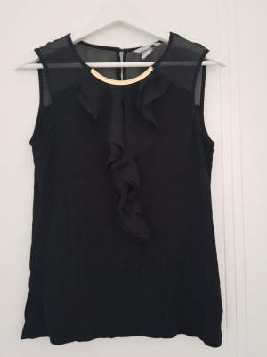 H&M Flounce Top black-gold-colored