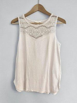 H&M Top di merletto rosa antico-rosa pallido