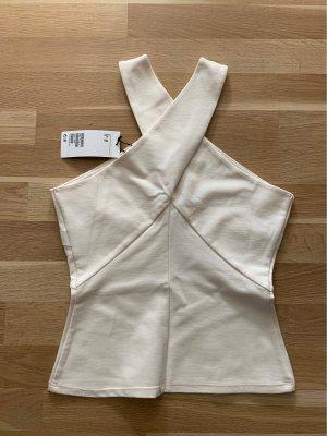H&M Top senza maniche bianco sporco-crema