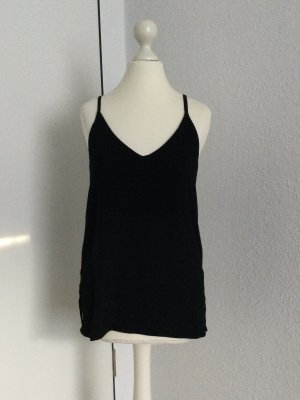 Zara Top con bretelline nero