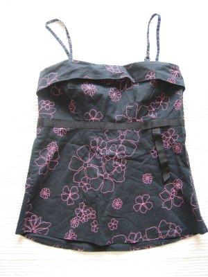 H&M top schwarz sommer gr. 34 xs neuwertig