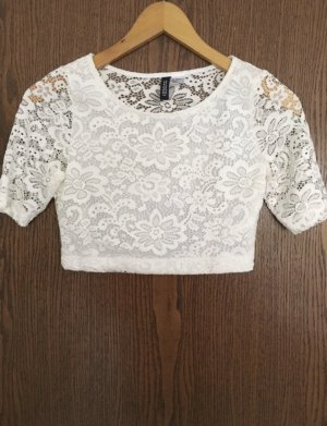 H&M Crochet Top white