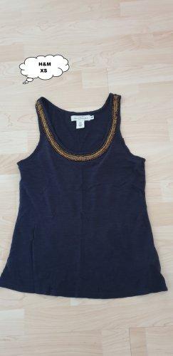 H&M Basic topje donkerblauw