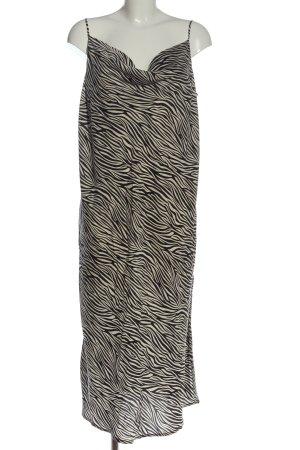 H&M Trägerkleid schwarz-wollweiß Allover-Druck Casual-Look