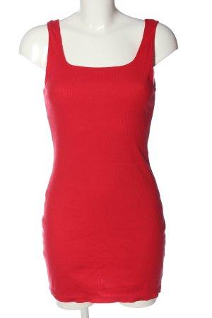 H&M Trägerkleid rot Zopfmuster Casual-Look