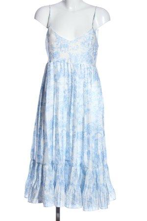 H&M Trägerkleid weiß-blau Allover-Druck Casual-Look