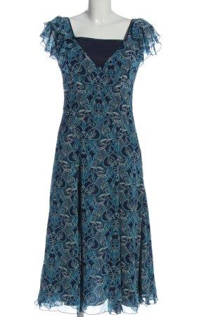 H&M Trägerkleid blau-wollweiß Allover-Druck Elegant