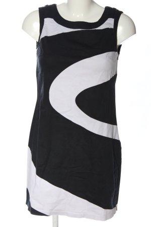 H&M Trägerkleid schwarz-weiß Casual-Look