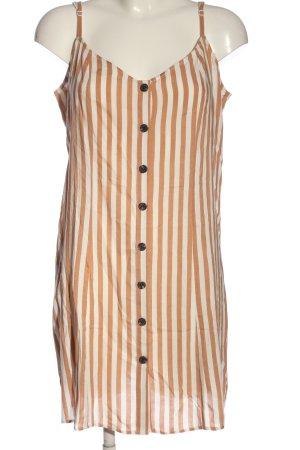 H&M Trägerkleid weiß-nude Streifenmuster Casual-Look