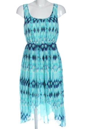 H&M Trägerkleid türkis-blau abstraktes Muster Casual-Look