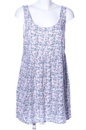 H&M Trägerkleid blau-pink Blumenmuster Elegant