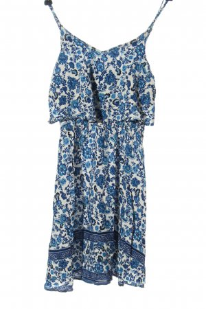 H&M Trägerkleid blau-wollweiß Allover-Druck Casual-Look