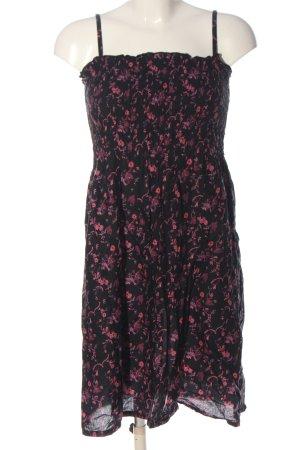 H&M Trägerkleid schwarz-pink Allover-Druck Casual-Look