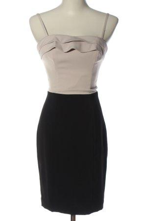 H&M Trägerkleid wollweiß-schwarz Business-Look