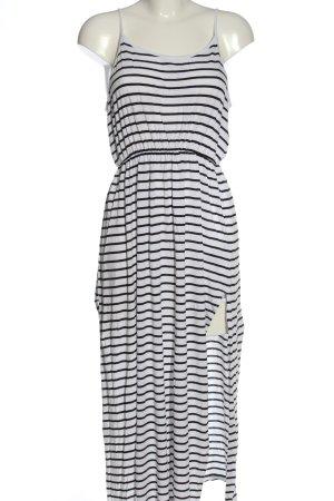 H&M Trägerkleid weiß-schwarz Streifenmuster Casual-Look