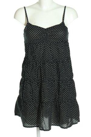 H&M Sukienka na ramiączkach czarny-biały Wzór w kropki W stylu casual