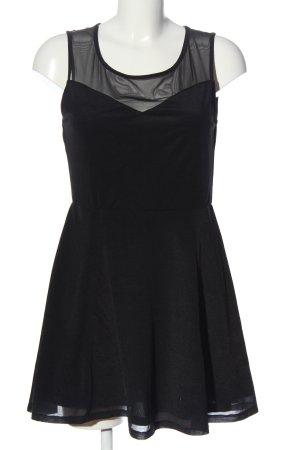 H&M Blusenkleid schwarz Elegant