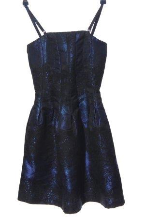 H&M Trägerkleid schwarz-blau Farbverlauf Elegant