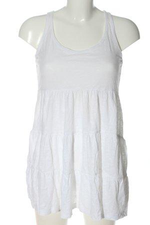 H&M Trägerkleid weiß schlichter Stil
